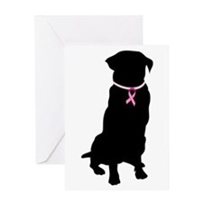 Golden Retriever Breast Cancer Support Greeting Ca