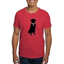 Golden Retriever Breast Cancer Support T-Shirt