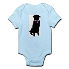 Golden Retriver Breast Cancer Infant Bodysuit