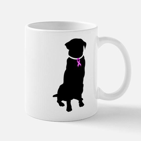 Golden Retriver Breast Cancer Mug
