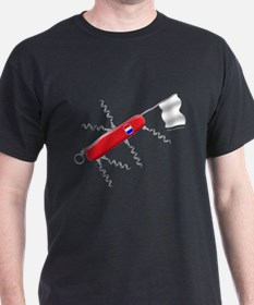 French Army Knife Black T-Shirt