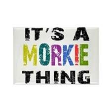Morkie THING Rectangle Magnet