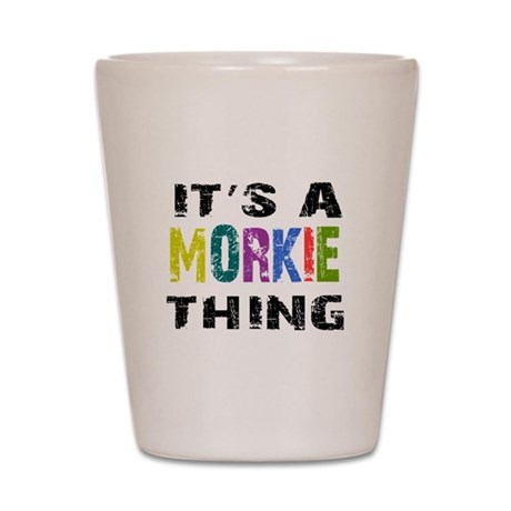 Morkie THING Shot Glass