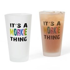 Morkie THING Drinking Glass