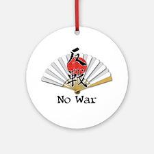 NO War Fan Ornament (Round)