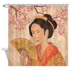 Japanese Geisha Shower Curtain