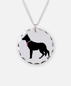 German Shepherd Breast Cancer Support Necklace