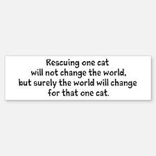 Rescue a Cat! Bumper Bumper Bumper Sticker