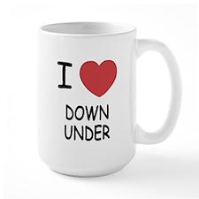 i heart down under Mug