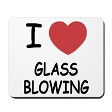 i heart glass blowing Mousepad