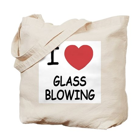 i heart glass blowing Tote Bag