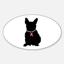 French Bulldog Breast Cancer Support Decal