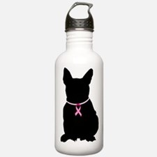 French Bulldog Breast Cancer Support Water Bottle