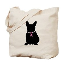 French Bulldog Breast Cancer Support Tote Bag