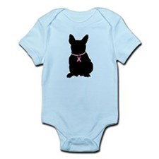 French Bulldog Breast Cancer Support Infant Bodysu