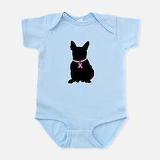 French Bulldog Breast Cancer Support Infant Bodysu