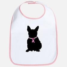 French Bulldog Breast Cancer Support Bib