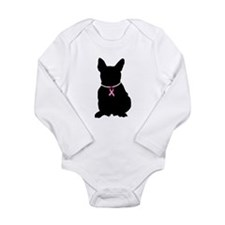 French Bulldog Breast Cancer Support Long Sleeve I