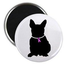 French Bulldog Breast Cancer Magnet