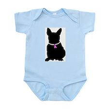 French Bulldog Breast Cancer Infant Bodysuit