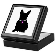 French Bulldog Breast Cancer Keepsake Box