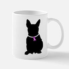 French Bulldog Breast Cancer Mug