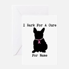 French Bulldog Personalizable I Bark For A Cure Gr