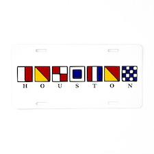 Nautical Houston Aluminum License Plate