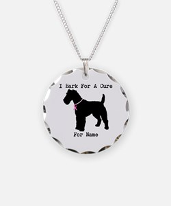 Fox Terrier Personalizable I Bark For A Cure Neckl