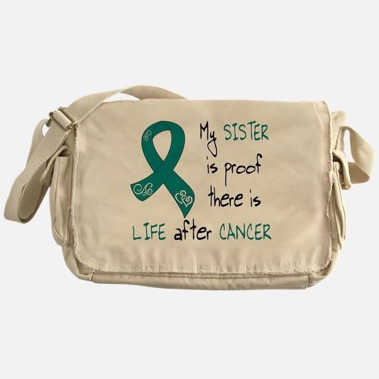 teal sister life.png Messenger Bag