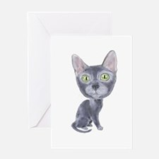Caricature Korat Greeting Card