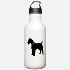 Fox Terrier Breast Cancer Support Water Bottle