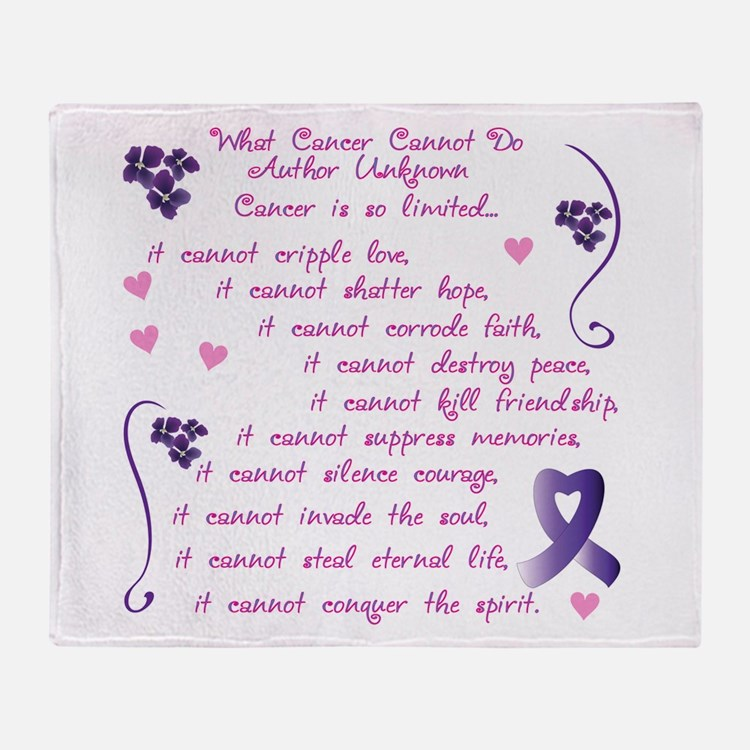 cancer cannot.png Throw Blanket
