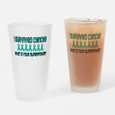 Teal Superpower.png Drinking Glass