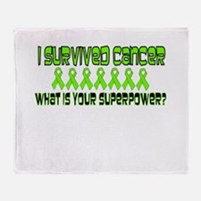 Lime Superpower.png Throw Blanket