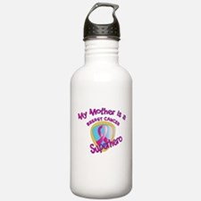 Mother Breast Cancer Superhero.png Water Bottle
