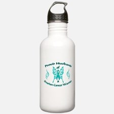 Proud Husband Ovarian Warrior.png Water Bottle