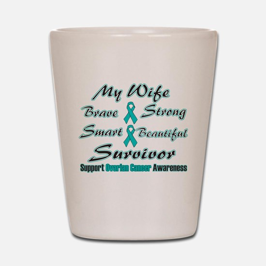 Teal Wife Words.png Shot Glass