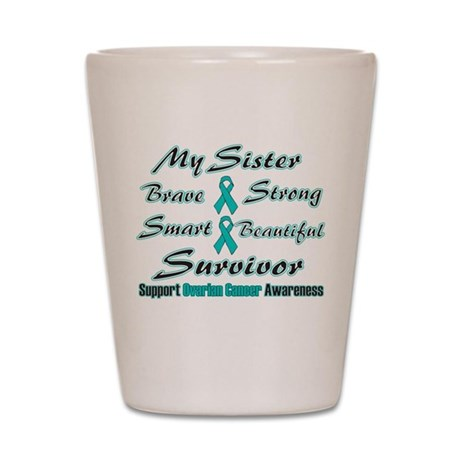 Teal Sister Words.png Shot Glass