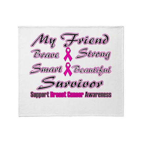 Pink Friend Words.png Throw Blanket