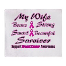 Pink Wife Words.png Throw Blanket