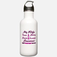Pink Wife Words.png Water Bottle