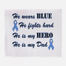 He is Dad Lt Blue Hero.png Throw Blanket