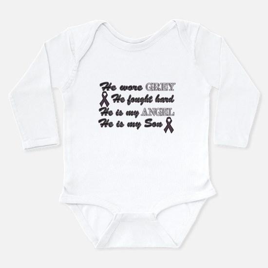 He is Son Grey angel.png Long Sleeve Infant Bodysu