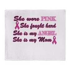 She is Mom breast angel.png Throw Blanket