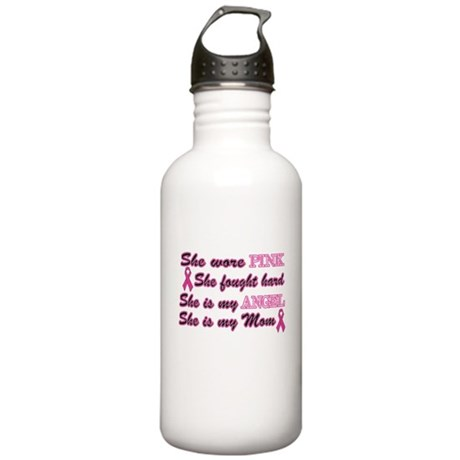 She is Mom breast angel.png Stainless Water Bottle