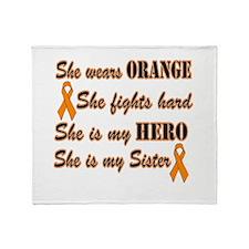 She is Sister Orange Hero.png Throw Blanket