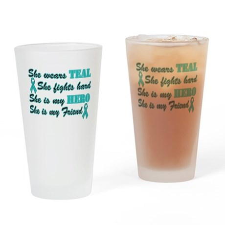 She is Friend teal.png Drinking Glass