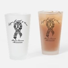 Brain Cancer Awareness Drinking Glass