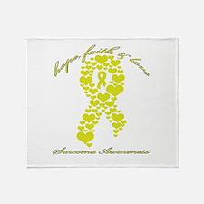 Sarcoma Awareness Throw Blanket